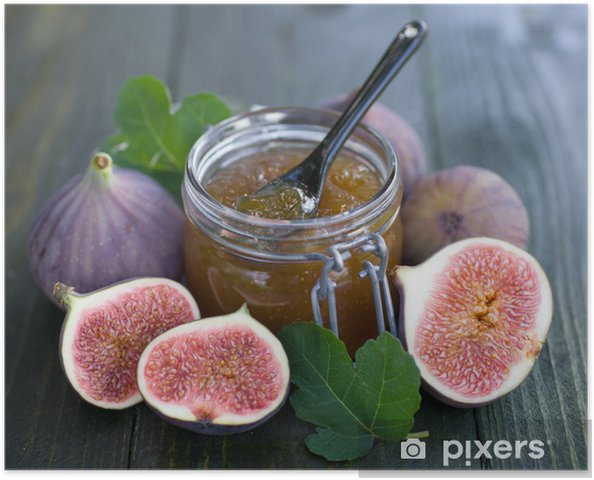 Poster Confiture de figues - Fruits