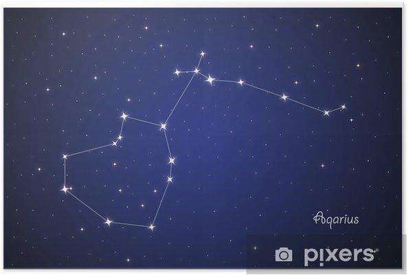 Póster Constelación Aqarius - Cielo