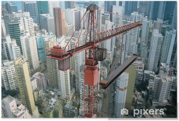 Poster Construction Crane from Above - Bâtiments commerciaux et industriels