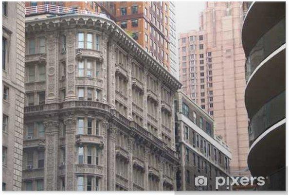 Poster Contexte architectural de Windows NYC Bâtiments - Paysages