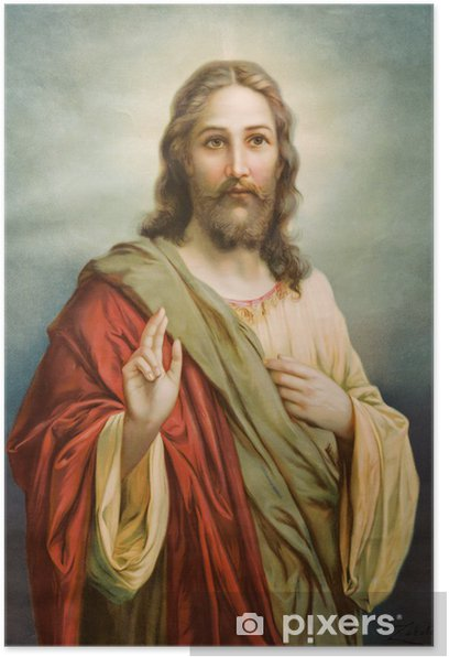 Copy of typical catholic image of Jesus Christ Poster - Themes