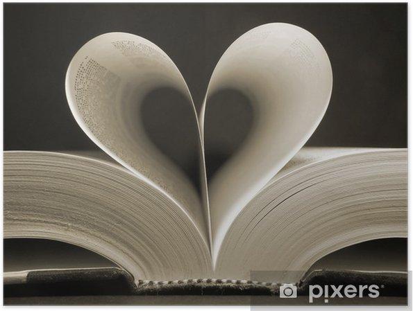 Póster Corazón en forma de libro - iStaging