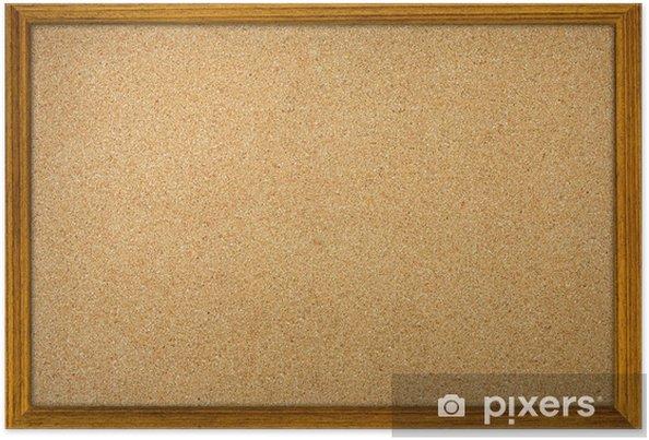 Póster Corcho tablón de anuncios de la oficina aislada con marco de madera - Artes y creación