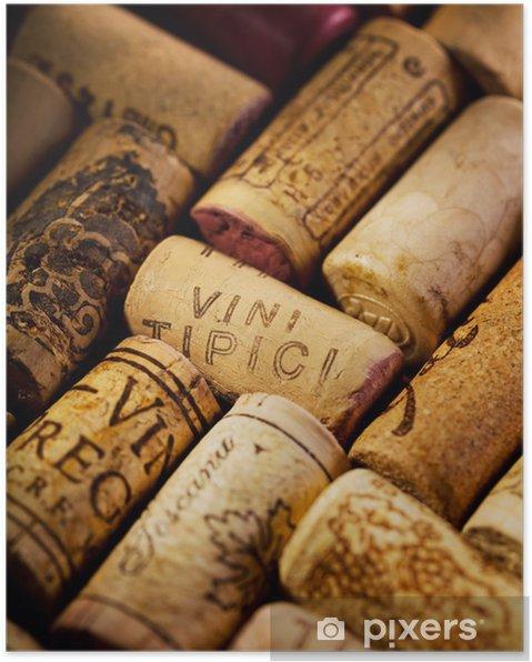 Póster Corchos de vino - Para restaurante