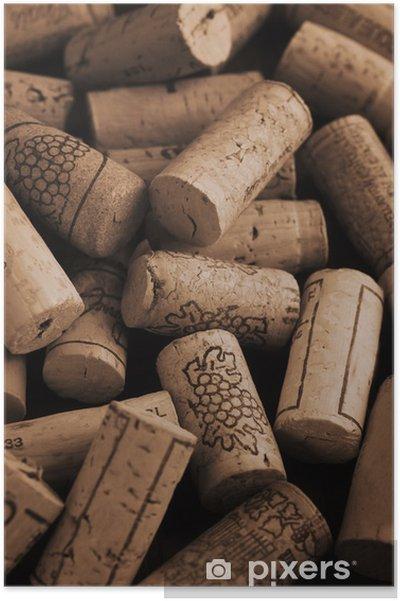 Póster Corchos de vino -