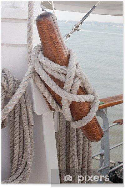 Poster Corde de bateau - Bateaux