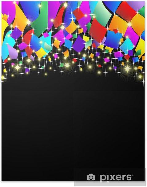 Coriandoli Carnevale Sfondo Confetti Carnival Colors Background
