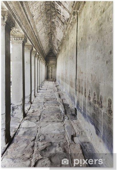corridor ankor wat Poster - Monuments