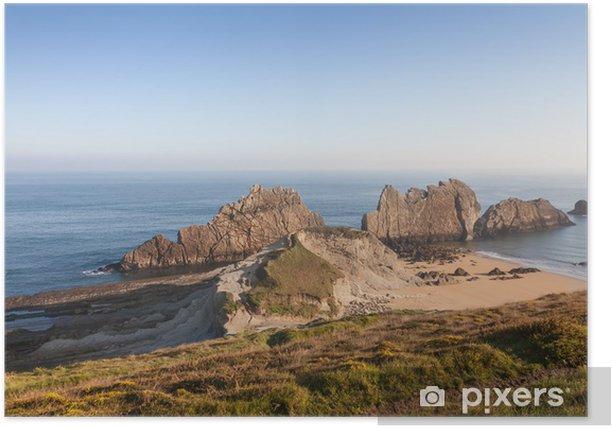 Poster Costa Quebrada en Cantabrie, Espagne - Vacances
