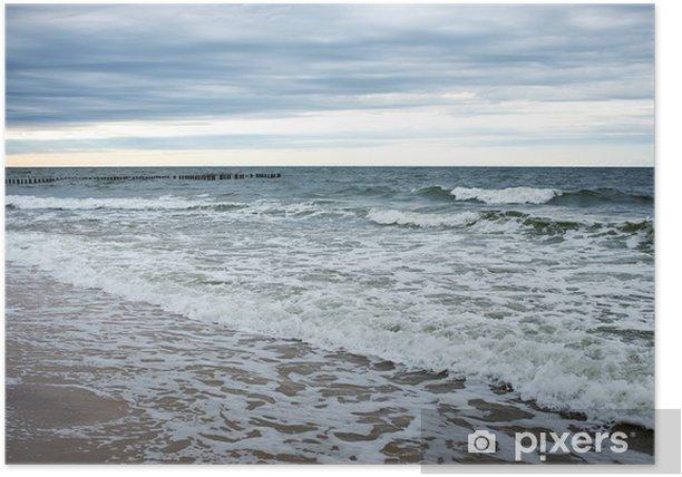 Poster Côte de la mer Baltique au printemps - Vacances