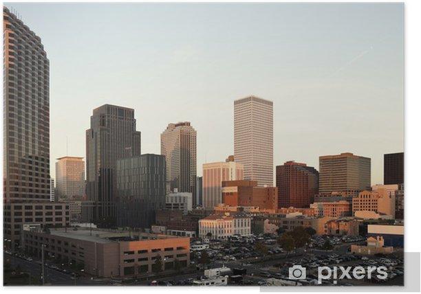Poster Coucher de soleil à La Nouvelle-Orléans - Industrie lourde