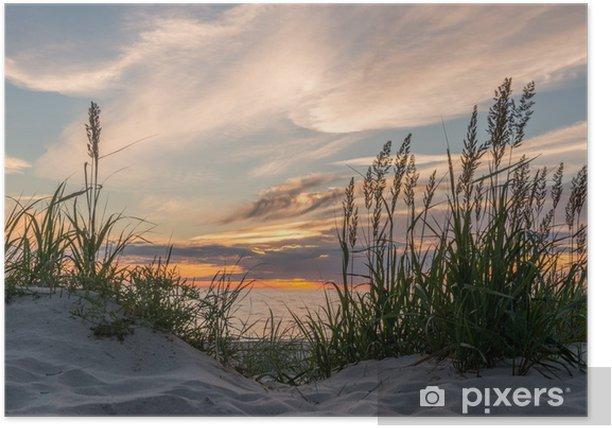 Poster Coucher de soleil à la plage de Darss à la mer Baltique, Mecklenburg-Ouest - iStaging