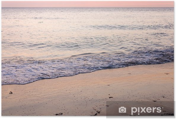 Póster Coucher de soleil sur la plage - Paisajes