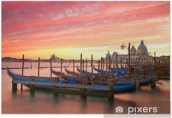 Poster Coucher de soleil sur le Grand Canal. Venise, Italie - Villes européennes