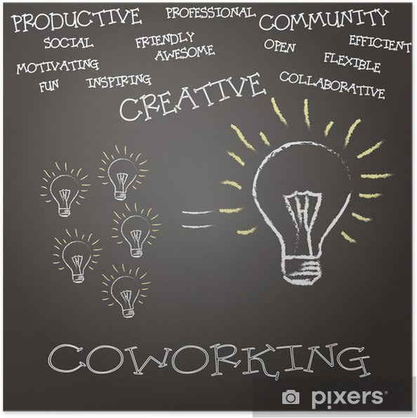 Poster Coworking Concepto - Concepts