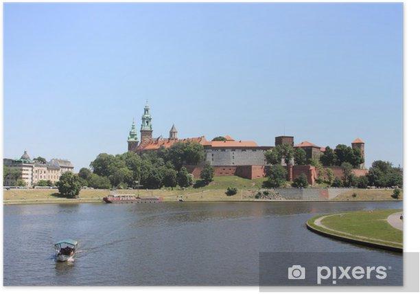 Poster Cracovie: château royal de Wawel, en Pologne - Europe