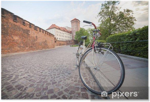 Poster Cracovie en vélo - Europe