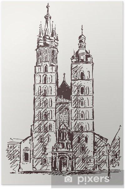 Poster Cracovie Rynek - Europe