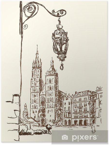 Poster Cracovie Rynek - Thèmes