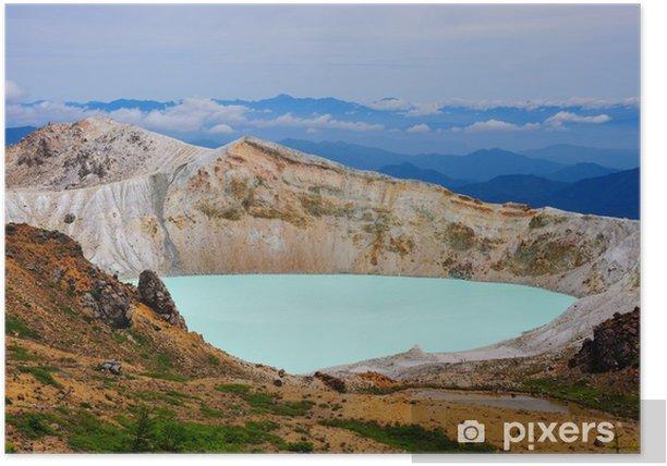 Poster Crater Lake op Mt. Shirane, Japan - Bergen