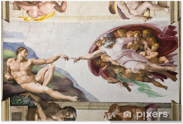 Poster Création d'Adam de Michel-Ange, Chapelle Sixtine, Rome - Thèmes