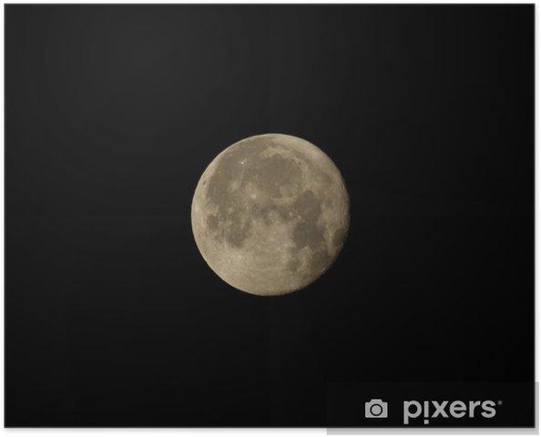 Póster Cuarto menguante Luna • Pixers® - Vivimos para cambiar