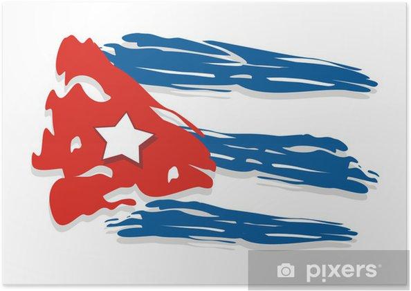 Poster Cuba drapeau - Amérique