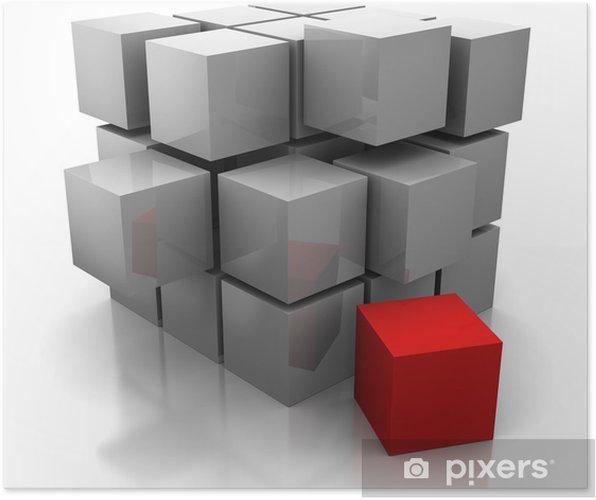 Poster Cubes de construction - Abstrait
