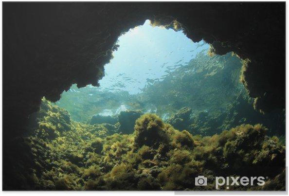 Póster Cueva submarina - Submarinos