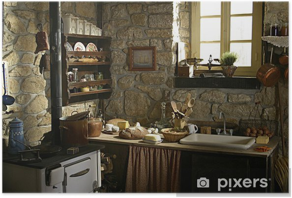Poster Cuisine Ancienne