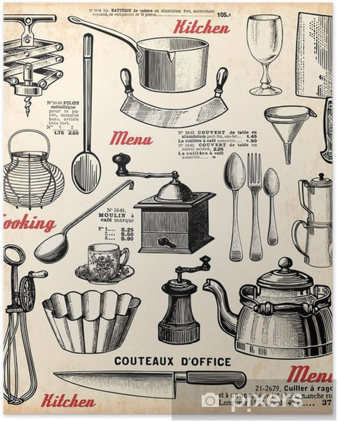 Poster Cuisinerie - Thèmes