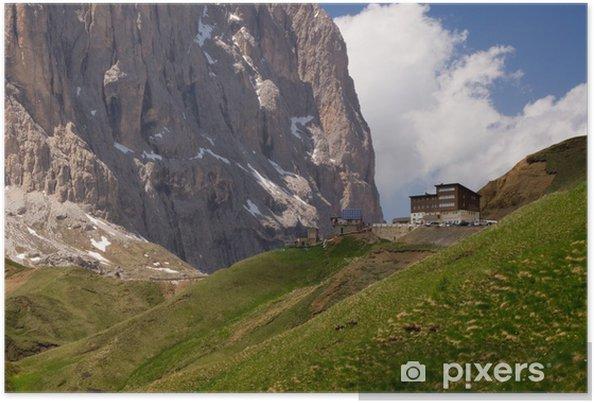Póster Cumbre de la estación de montaña almenada alpen dolomitas Hochgebirge - Europa
