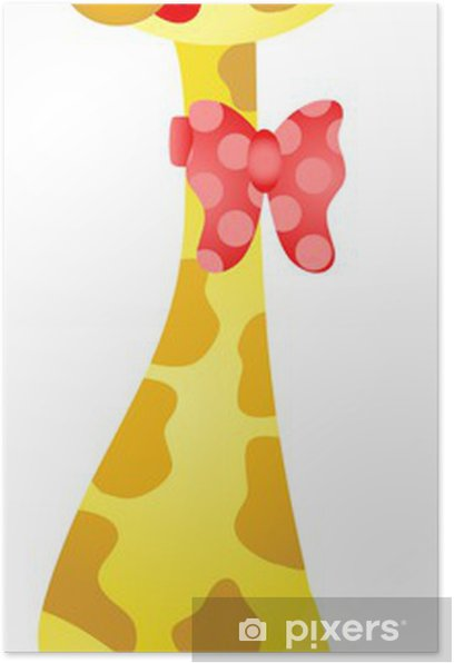 Poster Cute Giraffe - Mammifères