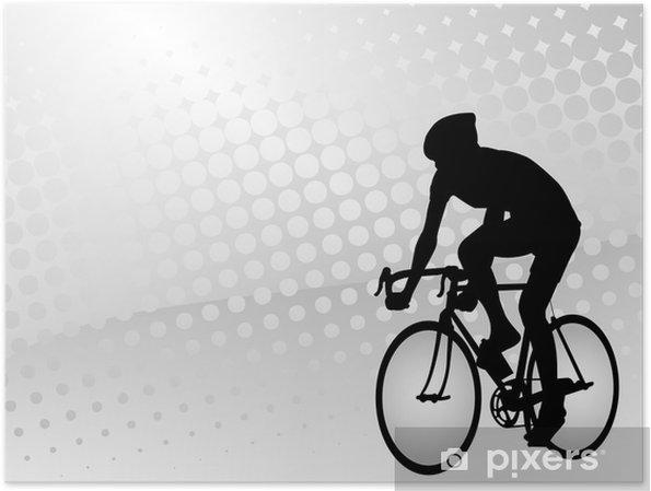 Poster Cycliste sur le demi-fond abstrait - Thèmes