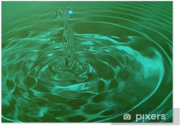 Poster D'impact de gouttes d'eau - Sciences fondamentales et appliquées