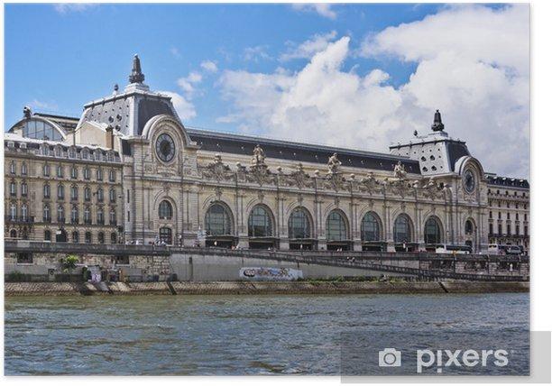 Poster D'Musée d'Orsay (ancienne gare d'Orsay) est un musée à Paris, France - Villes européennes