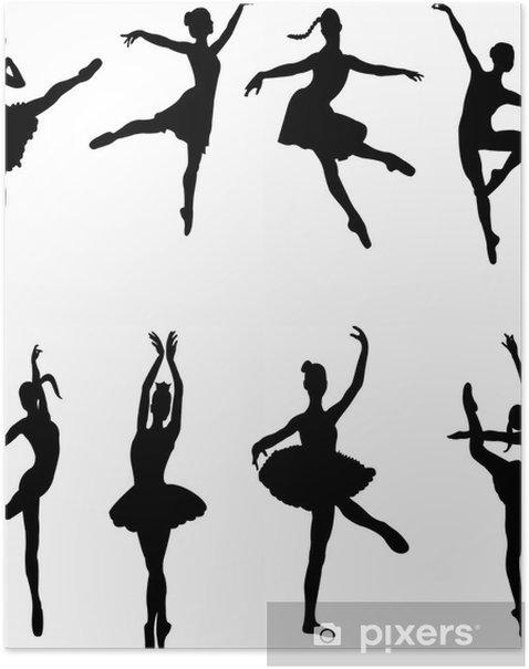 Poster Danseurs de ballet - vecteur - Divertissements