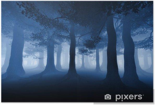 Poster Dark forest - Arbres