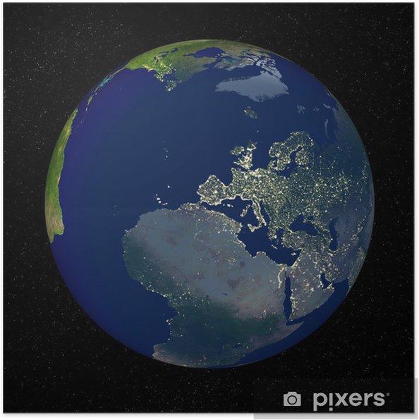 poster de aarde vanuit de ruimte • pixers® - we leven om te veranderen