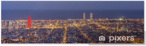 Póster De Barcelona skyline panorama de la noche - Temas
