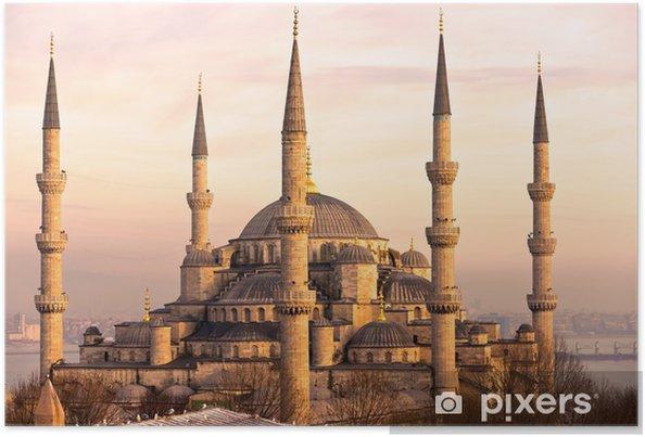 Poster De Blauwe Moskee, Istanbul, Turkije. - Thema's