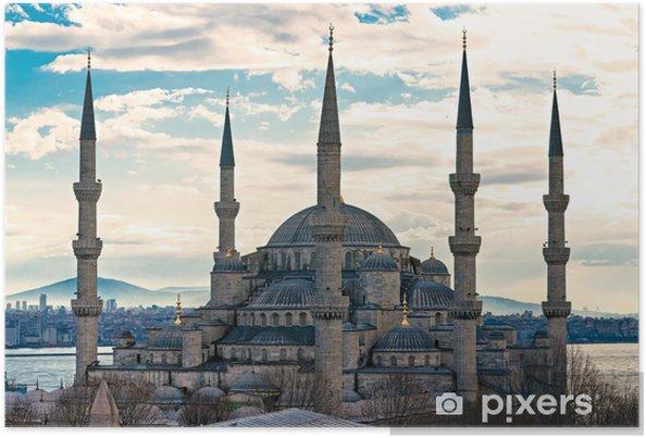Poster De Blauwe Moskee, Istanbul, Turkije. - Europa