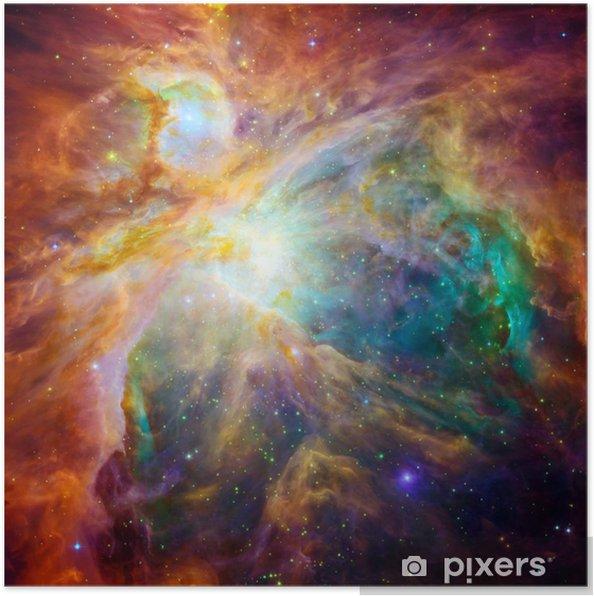 Poster De kosmische wolk genoemd Orionnevel - Heelal