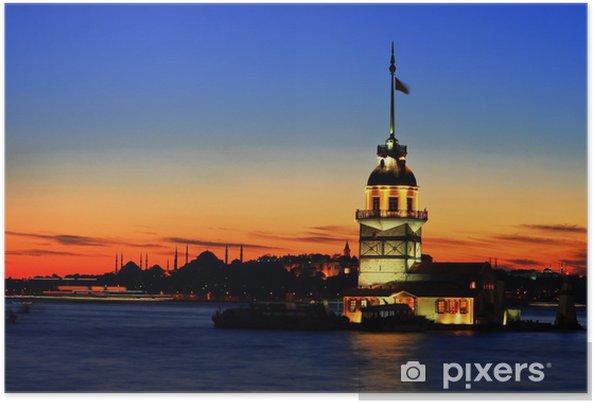 Poster De Maiden's Tower in Istanbul - Monumenten