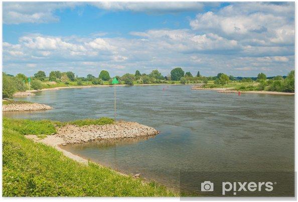 Poster De oude Nederlandse rivier de IJssel tussen Zutphen en Deventer - Europa