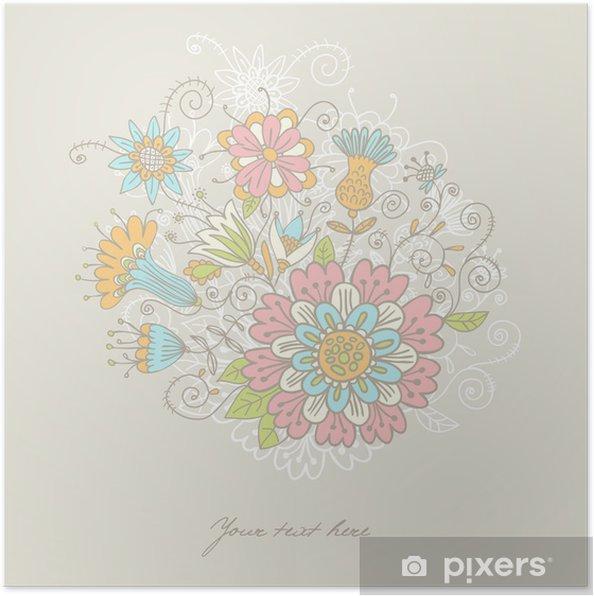 Poster Décorations en fleur au fond - Célébrations