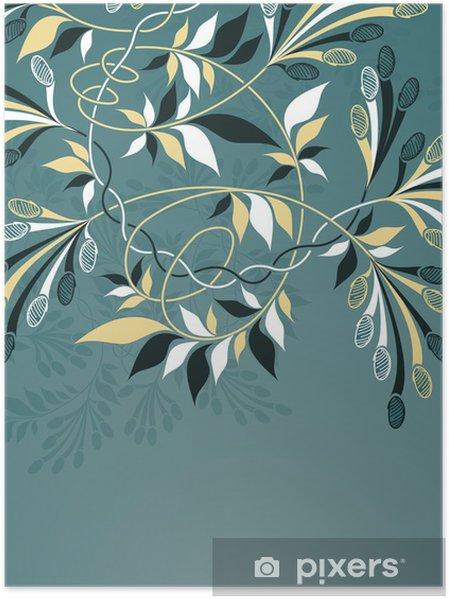 Poster Décorations en fleur au fond - Textures