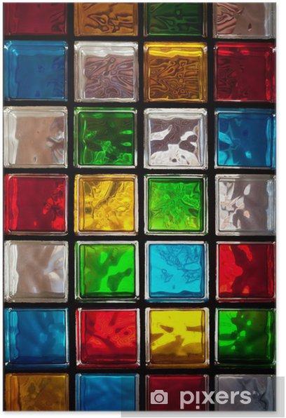 Decorative Glass Blocks Poster Pixers, Decorative Glass Blocks