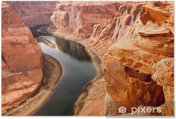 Poster Deep Canyon Coloradofloden Desert South Natural Scenic Lands - Teman
