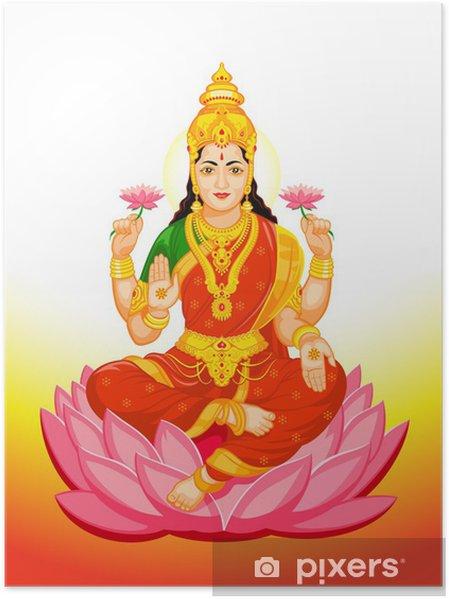 Poster Déesse indienne Lakshmi -